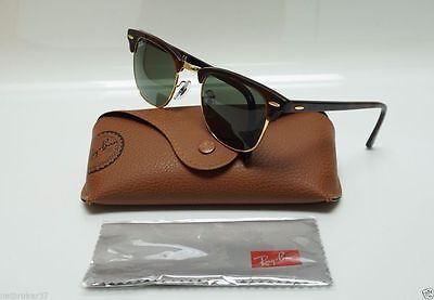 ray ban 3016 clubmaster tortoise w0366 large 51mm  NEW Ray Ban Sunglasses RB CLUBMASTER 3016 W0366 Havana tortoise ...