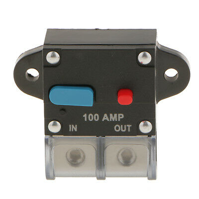 100A Inline Circuit Breaker Marine Rated Power with Manual Reset Waterproof