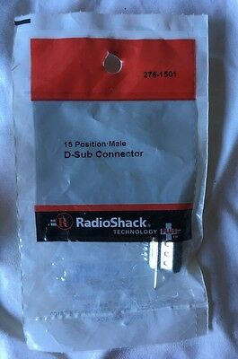 15 Position Male D-Sub Connector Radioshack 276-1501