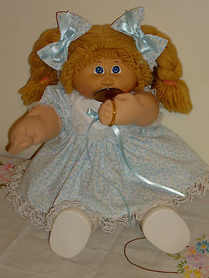 """Cabbage Patch Kids Doll Clothes THINK SPRING IN BLUE Dress Set for 16-18"""""""