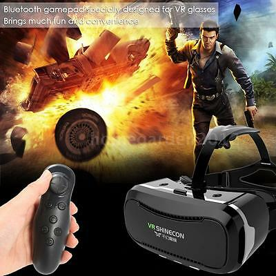 SHINECON Virtual Reality VR Headset 3D Glasses With Remote for Smart Phone K7J4