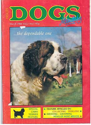 Dogs Monthly March 1984 Cairn Terrier Collecting Trialling Groom Magazine S901