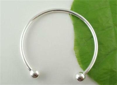 Unique Style Silver Plated Cuff Bracelet Bangle 20cm For European beaded Charm