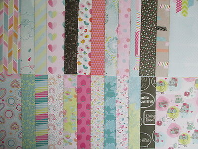 """25 sheets Sherbert Sky 12x12"""" Scrapbook backing papers - bright pastel floral"""