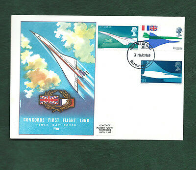 GB 1969 Concorde set on illustrated FDC