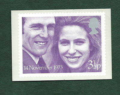 GB 1973 Princess Anne wedding PHQ card with stamps but signed
