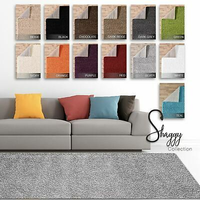Soft Modern Thick Shaggy Contemporary Fluffy Warm Area Rug Carpet 5cm Pile Plain