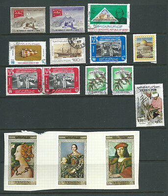 Yemen various stamps mint and used