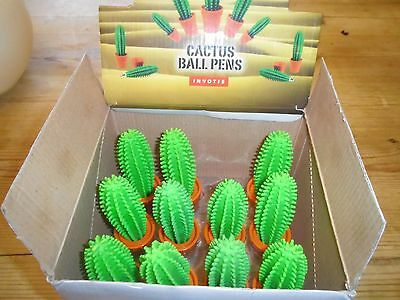 Novelty kids Cactus Pens in Flower Pots (box of 11) - NEW, great for party bags