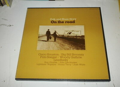 Folk And Blues Story - On The Road - Box 4 Lp W/booklet Byg Records - Nm/vg++