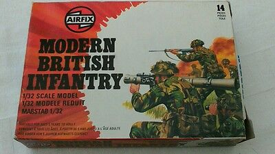 Airfix 51572-8 1:32 Scale Modern British Infantry - Boxed, great condition.