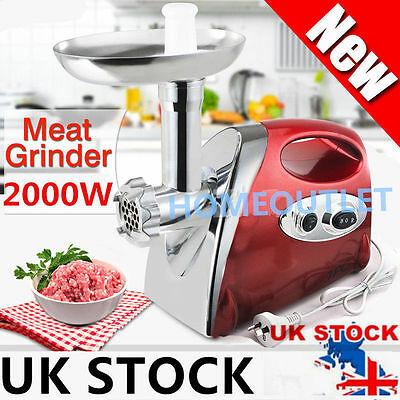 2017 2000W Electric Mincer & Sausage Grind Filler Meat Grinder Ho