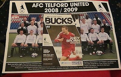 AFC TELFORD UNITED v BLYTH SPARTANS & Team Picture  16/8/2008