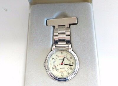 Lorus PC21-Y027 nurse / unisex fob watch stainless steel. Used, new battery incl