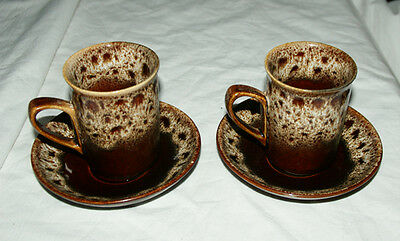 2 x Fosters Pottery HONEYCOMB Cup & Saucer Sets