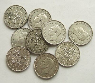 Great Britain Silver Florin 1937 - 1946 : George Vi Coin : Choose Your Date