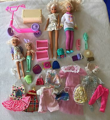 Barbie Little Sister Kelly Scooter Clothes And Accessories Lot