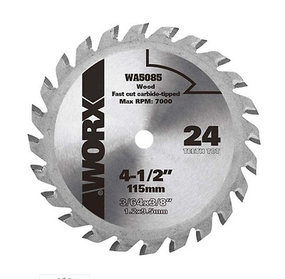 "WA5085 WORX 4-1/2"" WORXSAW Circular Saw Replacement Blade"
