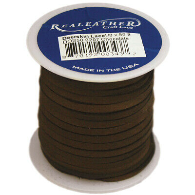 """Tandy Leather Deerskin Lace 1//8/"""" x 50 Ft Red 5067-08"""