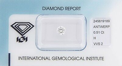 Diamond 0,51ct H VVS 2