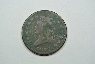 1812 Classic Head Large One Cent, Dark VG Condition - C2611