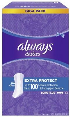 always Slipeinlage Extra Protect Long Plus Gigapack 54 Stück Pantyliner neu/OVP