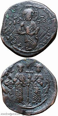 Byzantine Coin Ae Follis Constantine X Constantinople Double Struck 1059-1067 Ad