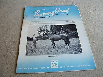 Vol 1 #4 1948 The Thoroughbred magazine, Lord Rosebery's Ocean Swell cover