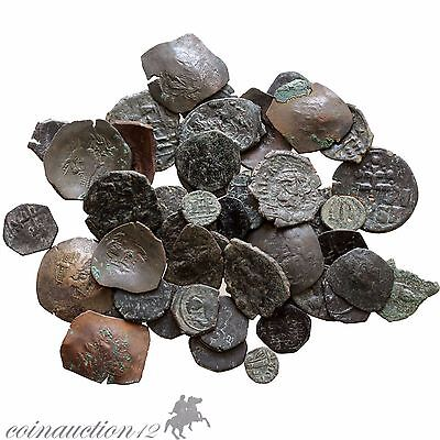 Lot Of 52 Uncertain Byzantine Ae Coins