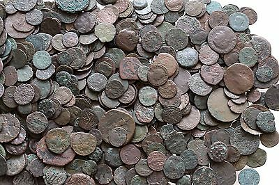 One Bid One Lot Of 100 Ancient Greek Roman Byzantine & Pirates Ae Coins