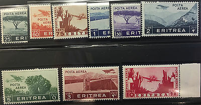 ERITREA  C7 - 16    Beautiful  Mint  NEVER  Hinged  Set  VF  UC421