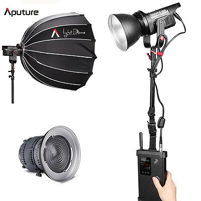 Aputure Light Storm COB 120d 6000K Daylight LED Lighting +LightDome+Fresnel Kit