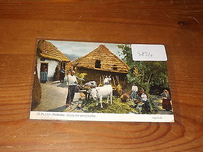 Old  postcard our ref #58210 MADEIRA COSTUME CAMPESTRE 1911