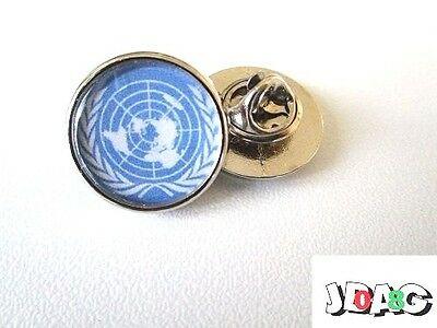Pins Pin's Badge Onu Nations Unies -  Finition Argent Ou Or