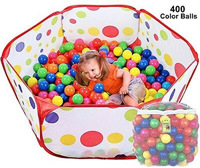 Click N' Play Click N Play Ball Pit Playpen Playset, Includes 400 BPA Free,