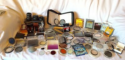 Large Job Lot Vintage Camera Lens Filters & Other Accessories