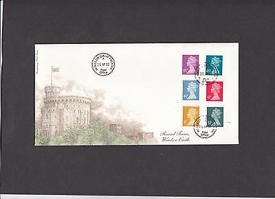2000 8p-65p new values Fourpenny Post FDC Windsor Drive CDS
