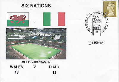 Wales V Italy 6 Nations 11 Mar 2006 Rugby Envelope