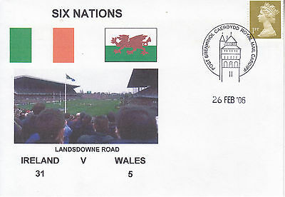 Ireland V Wales 6 Nations 26 Feb 2006 Rugby Envelope