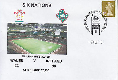 Wales V Ireland 6 Nations Rugby Envelope 2 Feb 2013