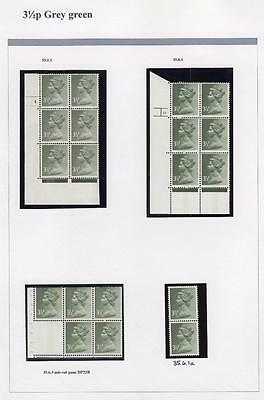 SPECIALISED COLLECTION OF UNMOUNTED MINT 31/2p MACHINS