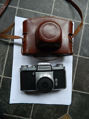 Early Praktica  35 mm SLR Camera with case