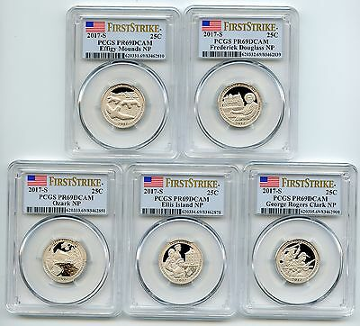 2017 S Clad State National Parks Set PCGS PR69DCAM First Strike