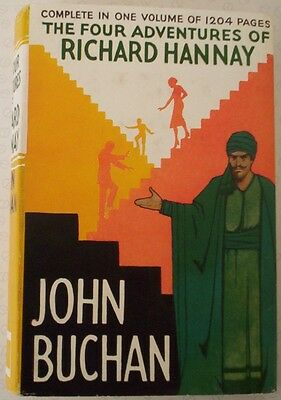 """The FOUR ADVENTURES of RICHARD HANNAY"". JOHN BUCHAN. DUSTJACKET ONLY. Original."