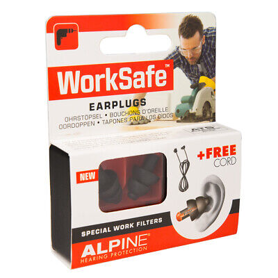 Alpine Worksafe Ear Plugs / Hearing Protection / Noise Protection, 1 Pair
