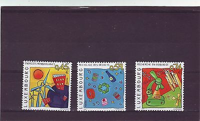 Luxembourg - Sg1597-1599 Mnh 2001 Environment & Medicine Of The Future