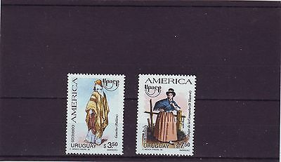 Uruguay - Sg2302-2303 Mnh 1996 Traditional Costumes