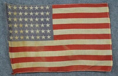 48 star flag USA  cotton printed 11 in. x 17 in. small parade