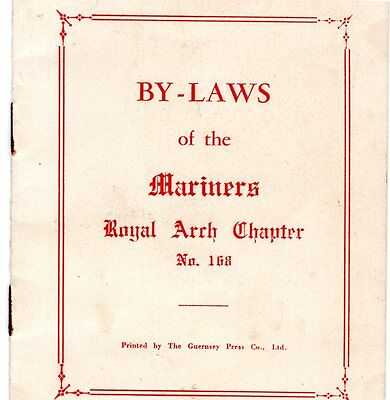 Guernsey, By-Laws Of The Mariners Chapter