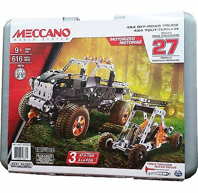 Meccano - 4x4 Off-Road Adventure Motorized with Durable Carrying Case - 27 Model